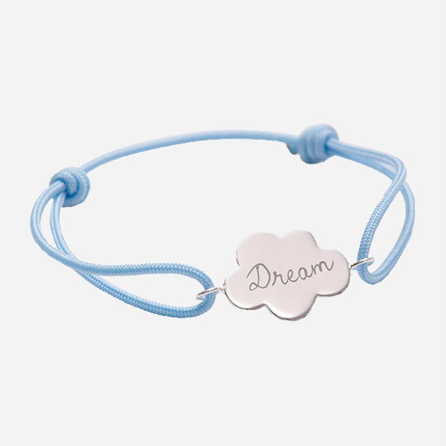 ラップブレスレット - FOLLOW YOUR DREAM - Silver
