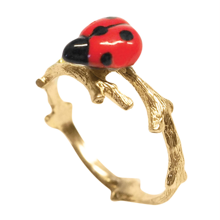 Ladybuug branch ring