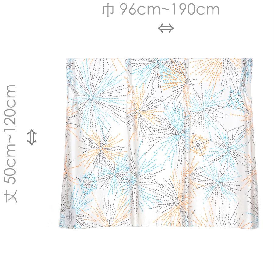"""【MoRi MoRi CURTAIN】 オーダーカーテン:"""" 花火 """" 巾 96cm~190cm ・ 丈 50cm~120cm"""