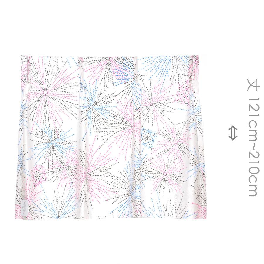 """【MoRi MoRi CURTAIN】 オーダーカーテン:"""" 花火 """" 巾191cm~285cm・丈121cm~210cm"""