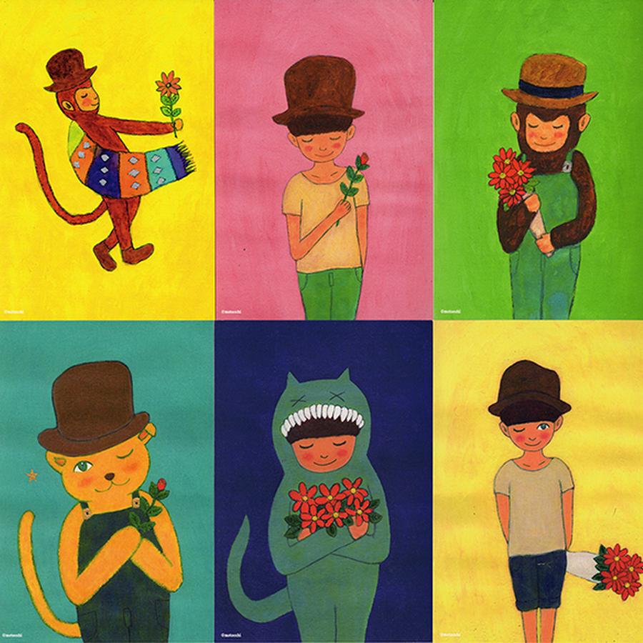 「こころのままに」シリーズ・ポストカードセット(6枚)
