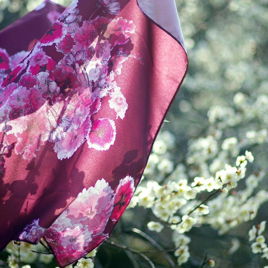 【3月下旬〜4月上旬発送】桜の柄 風呂敷【クラウドファンディング製作商品】