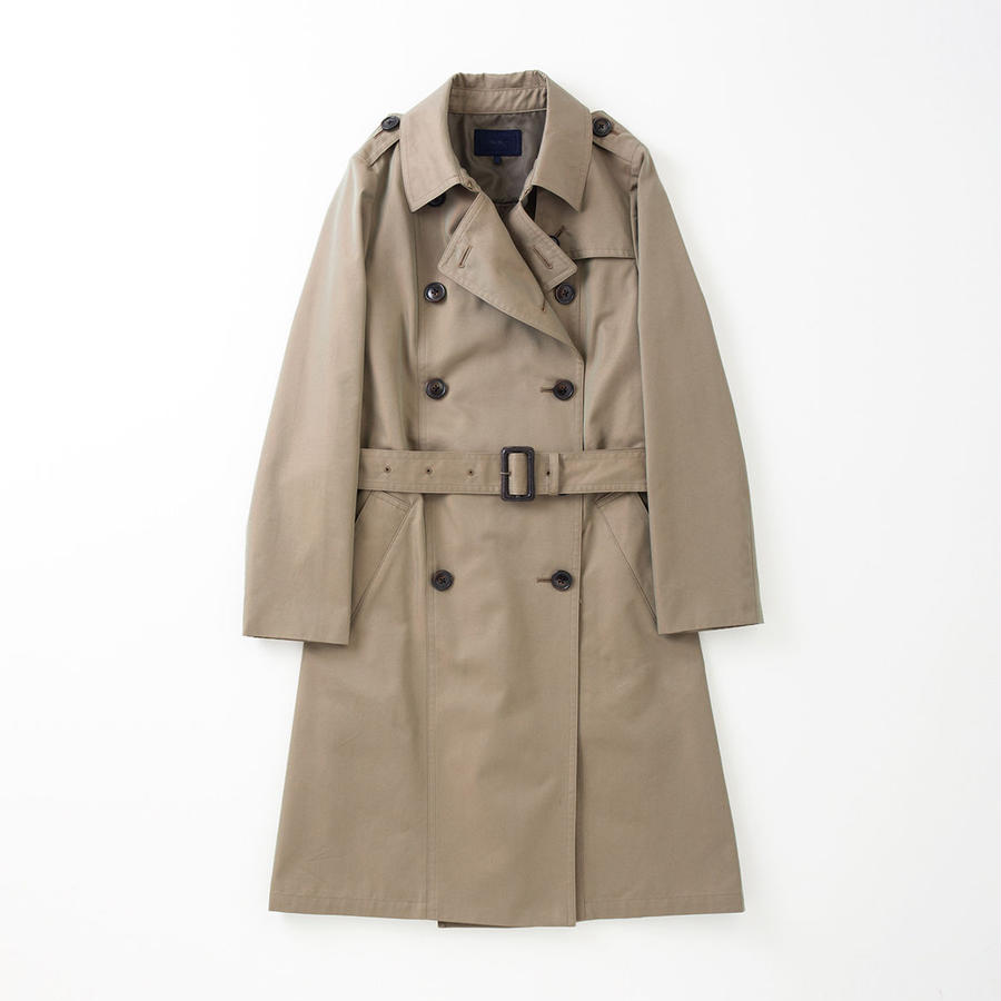 PA7AW-CT01 BACK GATHERED TRENCH COAT