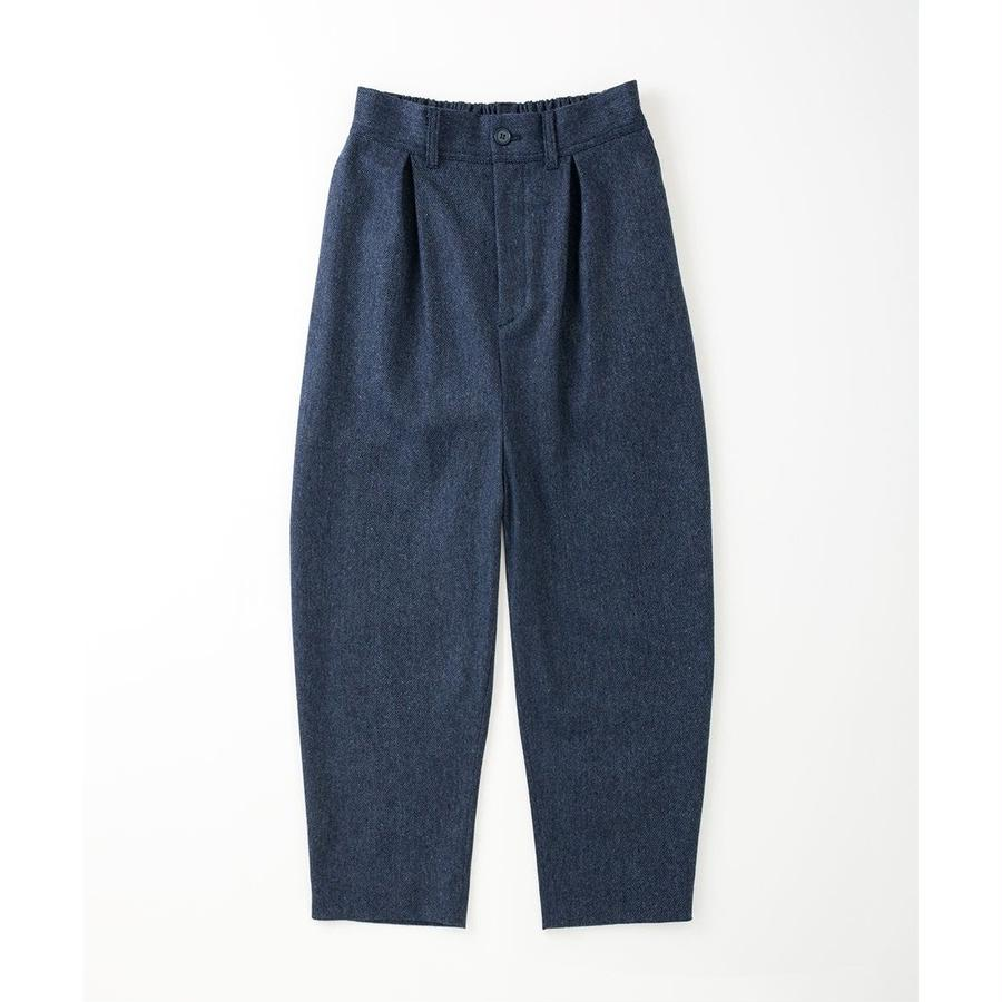 PA7AW-PT04 STRETCH TWEED TUCK PANTS