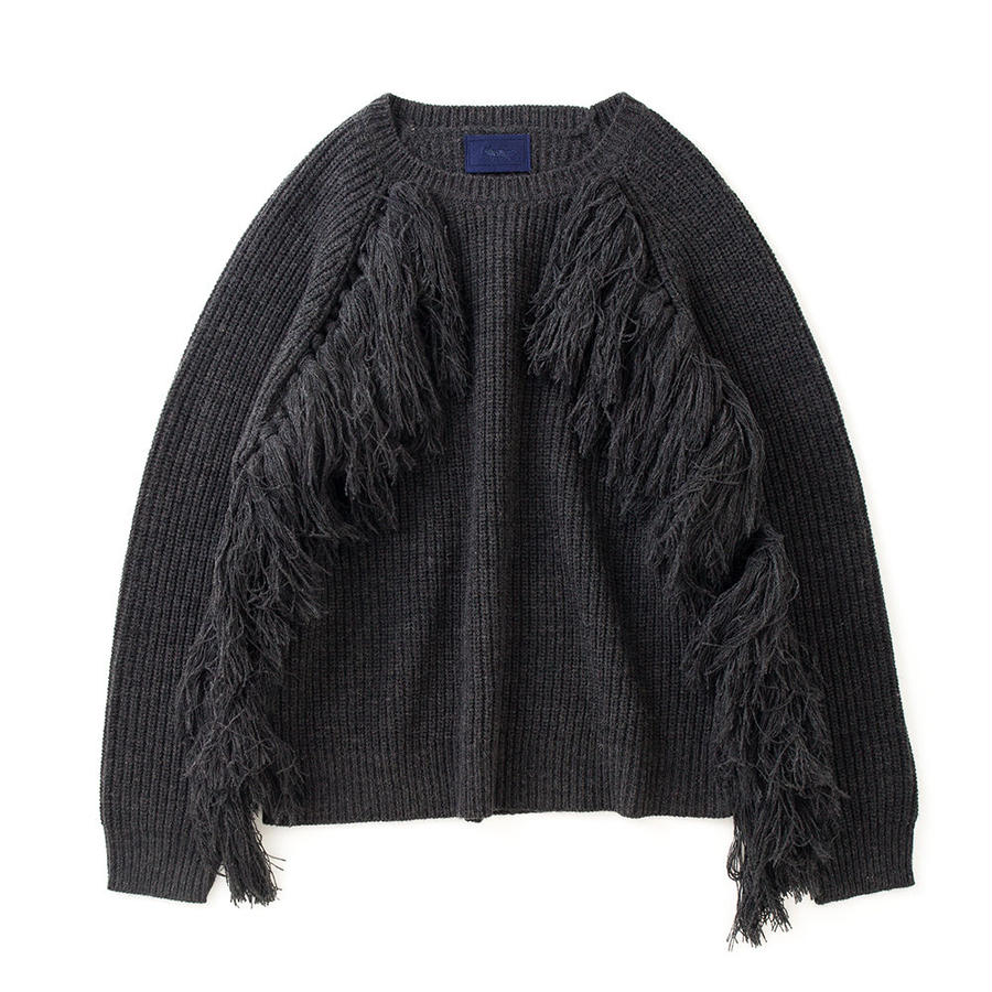 PA7AW-KT04 FRINGE RIB PULLOVER