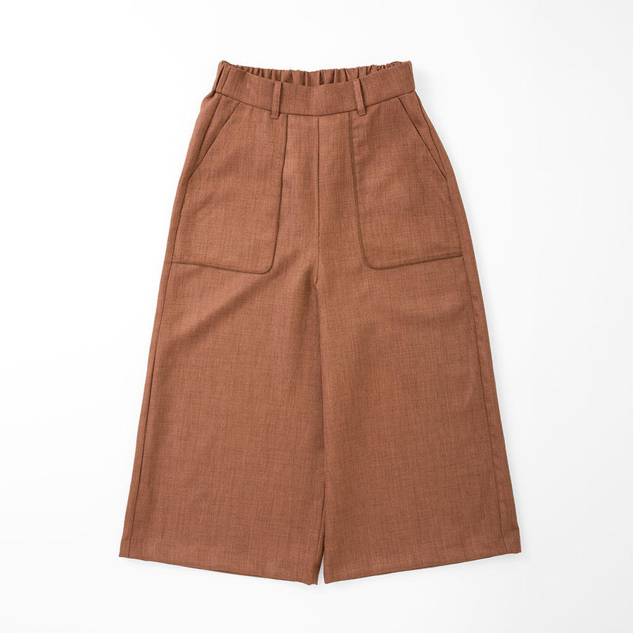 PA7SS-PT02  FAKE LINEN GAUCHO PANTS