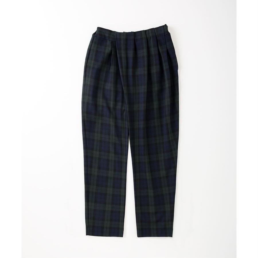 PA7AW-PT02 GATHERED CHECK PANTS