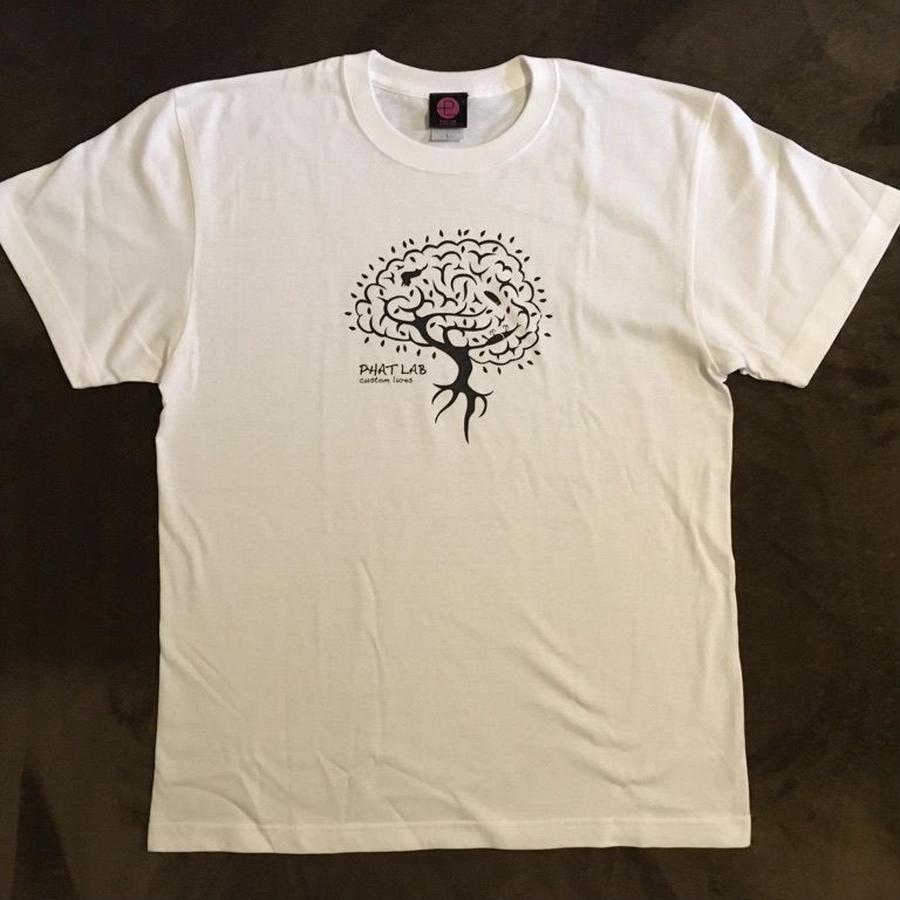 phatlab ブレインツリ― ロゴ Tシャツ WHT L