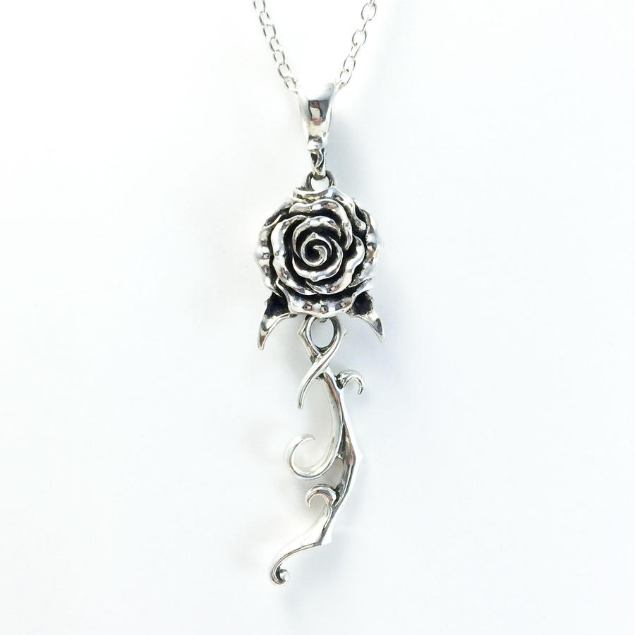 Rose Stem Pendant