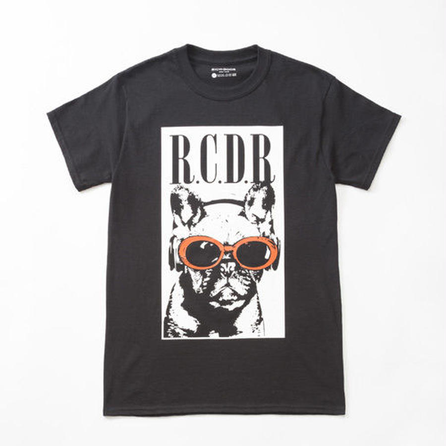 FRENCH BULL×KURT TEE「BLACK×ORANGE」