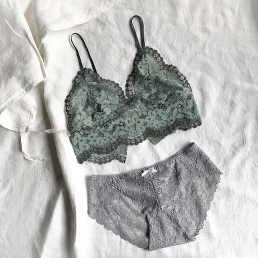 Celadon green and Gray set