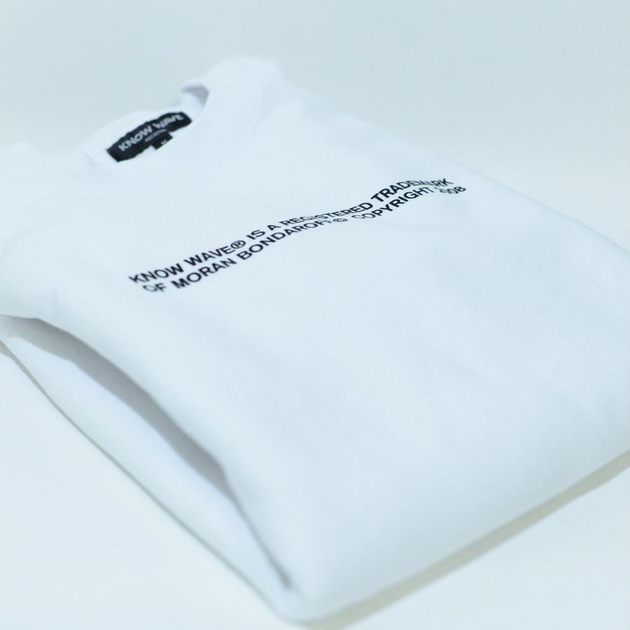 KNOW WAVE Trademark Crewneck (White)
