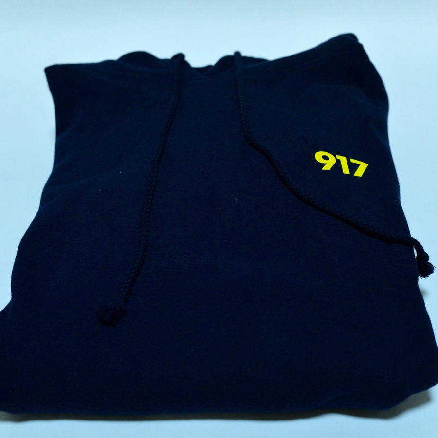 Nine One Seven / AREA CODE HOODED SWEATSHIRT / NAVY /Lsize