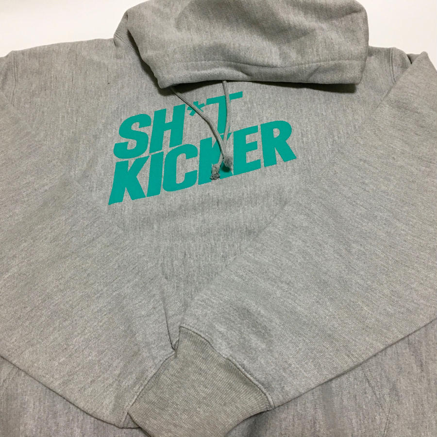 SH*T KICKER TIFFANY BLUE CHAMPION HOODY / Lsize