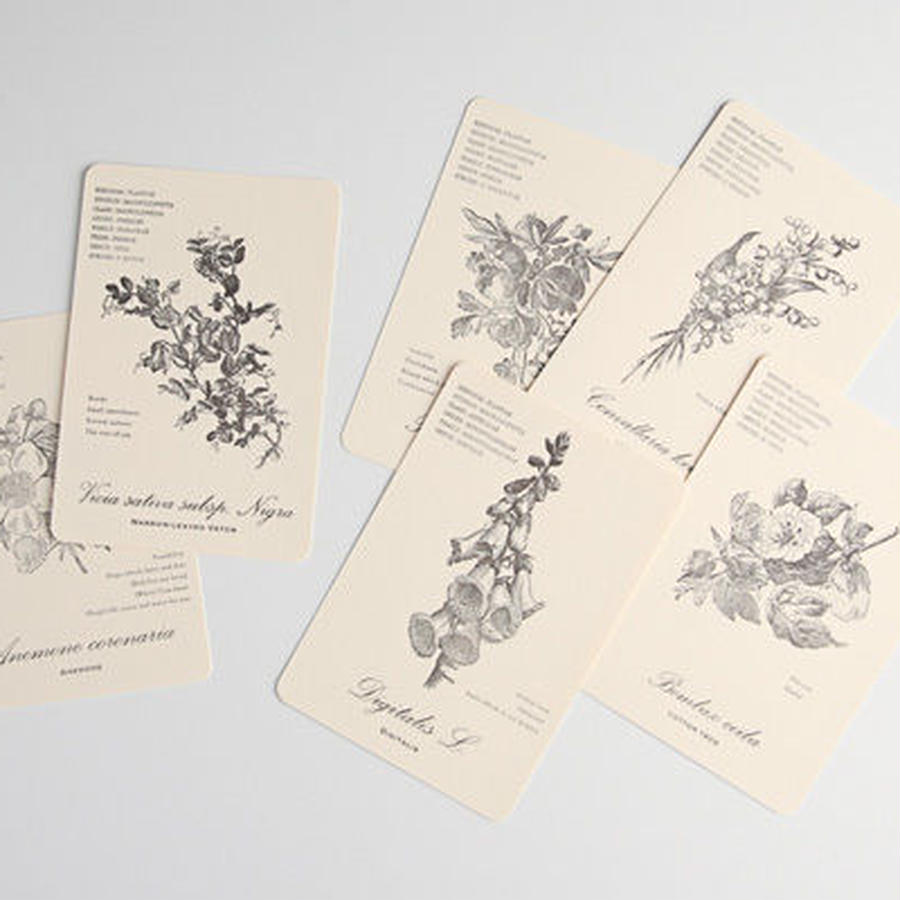 Letterpress card 【FLOWER CARD】