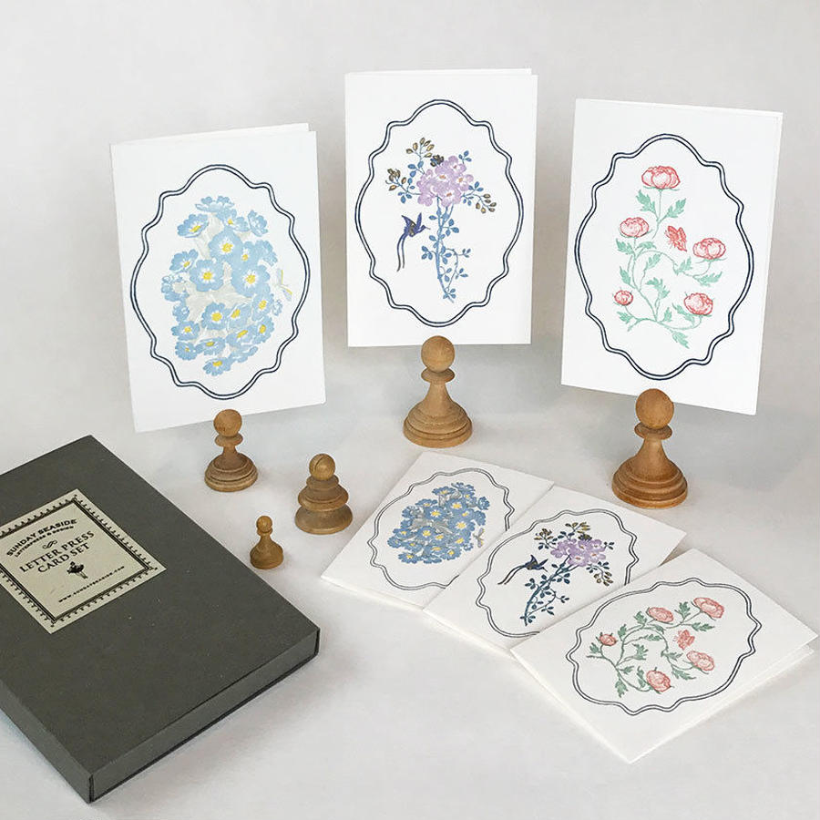 Letterpress Card set