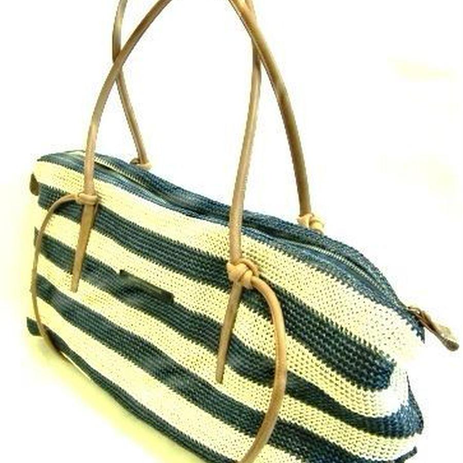 革ひも 軽涼ジュート調編みバッグ