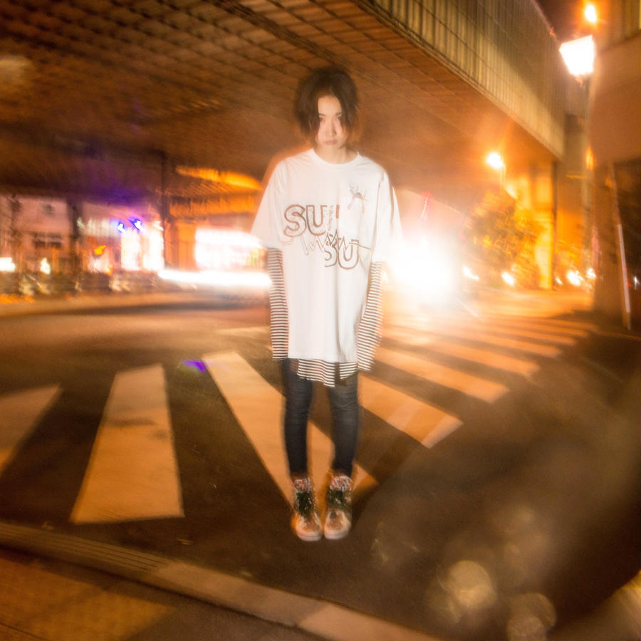 耳星人ポケットTシャツ / WHITE