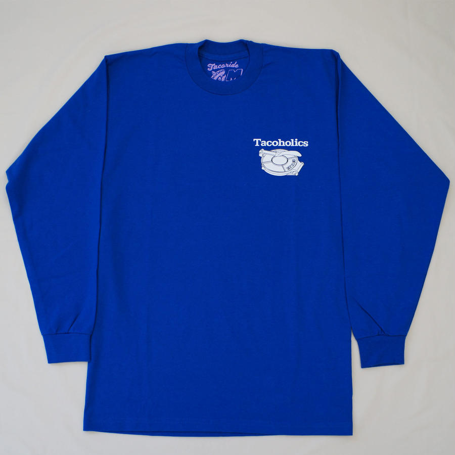 LONG SLEEVE TEE 6.5oz  Tacoholics (Royal)