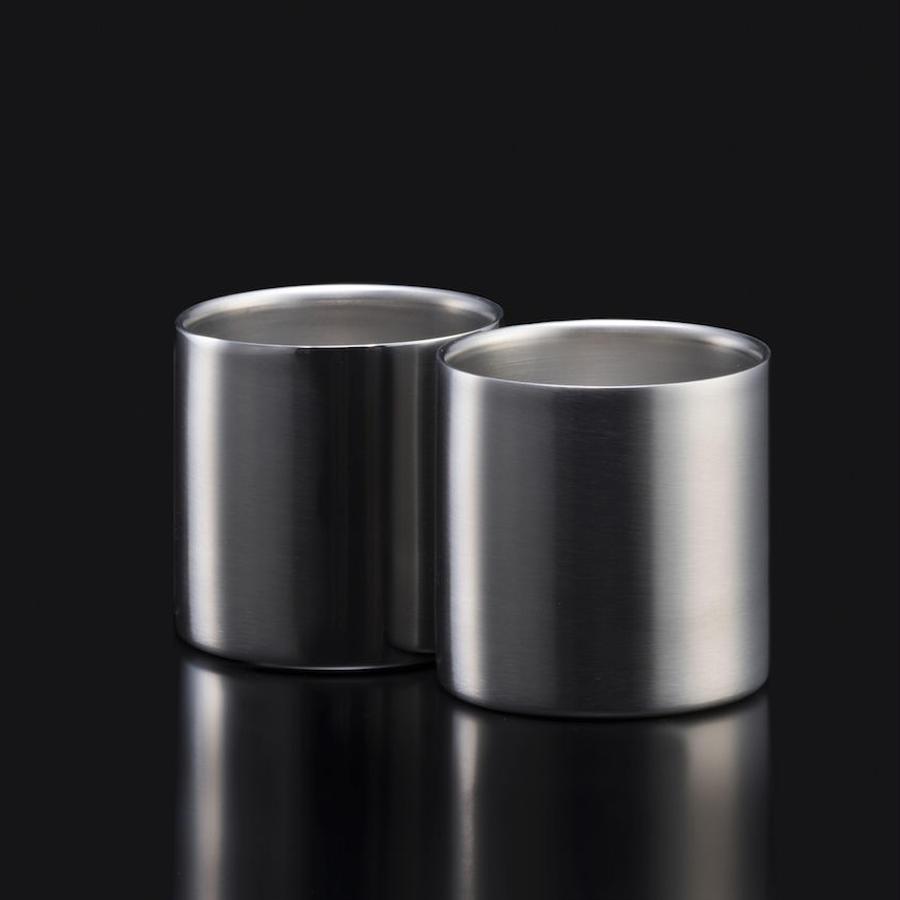 78mm ダブルステンレスタンブラーグラス ノーマル2個入