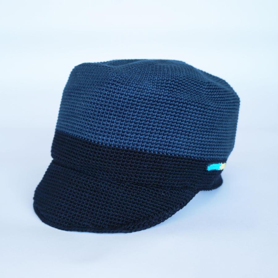 オリジナル帽子/ブラック×ネイビー
