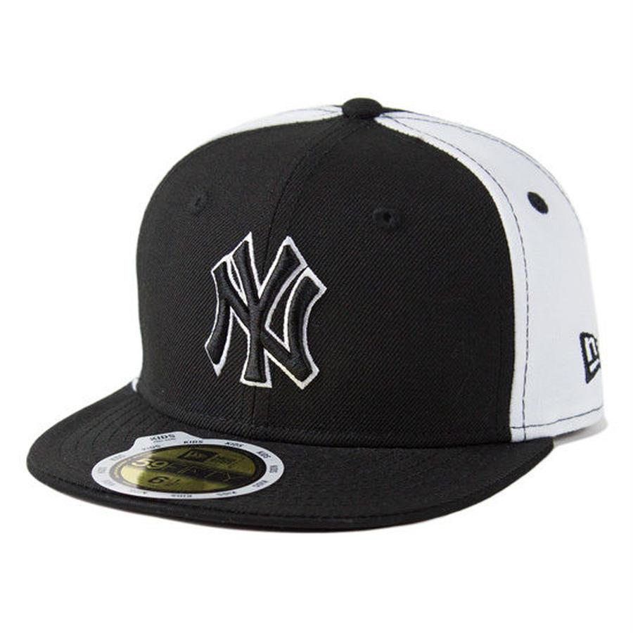【 NEW ERA / ニューエラ 】KIDS 59FIFTY ニューヨーク・ヤンキース /ブラックホワイト×ブラック