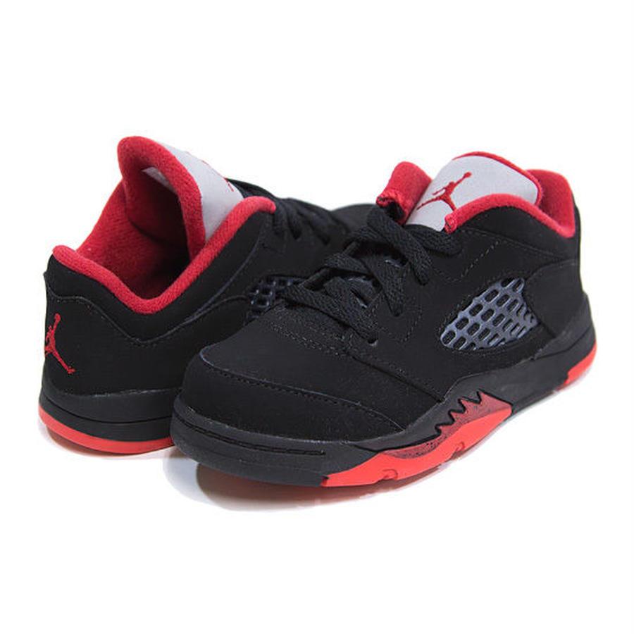 【JORDAN/ジョーダン】Kids Air Jordan 5 Retro Low / ブラック×ジムレッド×ブラック