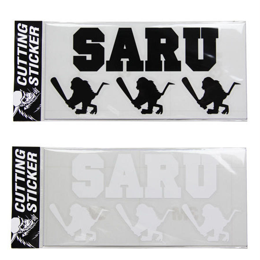 "【 Santastic! Kid's / サンタスティック キッズ 】Cutting Sticker ""SARU&BAT SARU"""