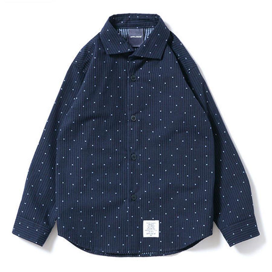 【 APPLEBUM / アップルバム キッズ 】シアサッカーシャツ
