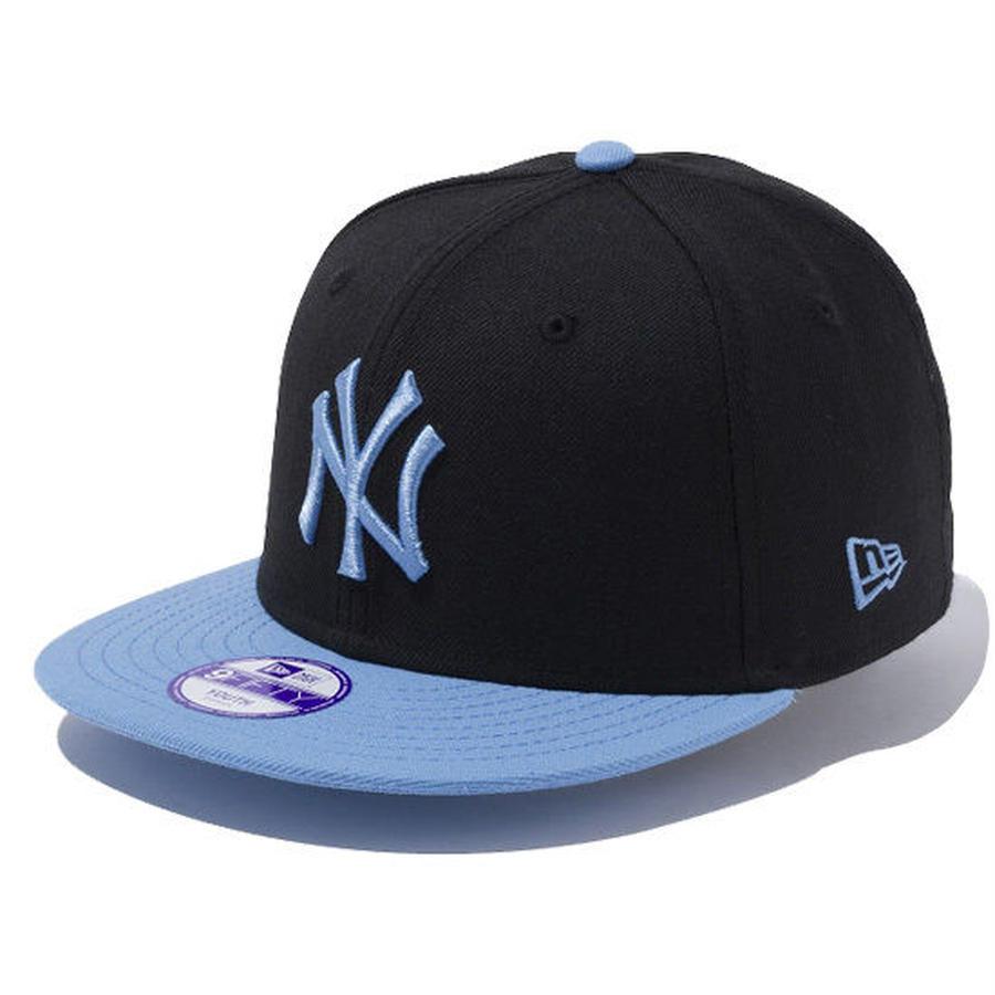 【 NEW ERA KID'S/ ニューエラ キッズ 】9FIFTY ニューヨーク・ヤンキース /ブラック×ウルトラブルー スカイブルーバイザー