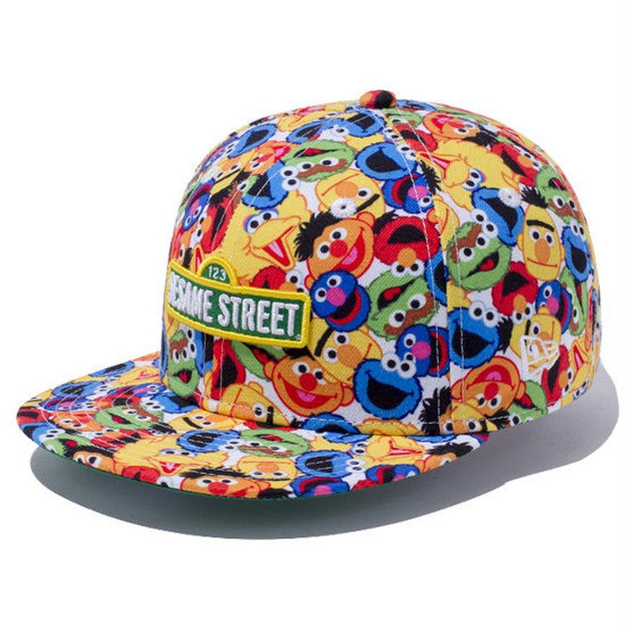 【 NEW ERA KID'S/ ニューエラ キッズ 】9FIFTY Sesame Street Allover  / キャラクタープリント