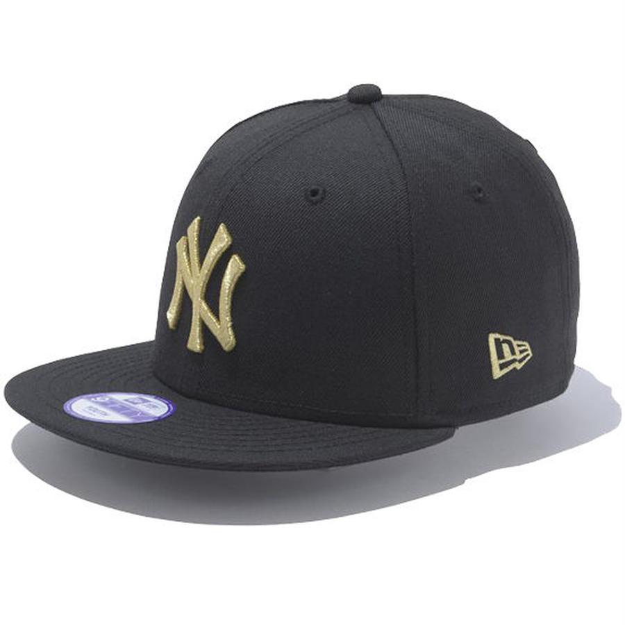 【 NEW ERA / ニューエラ 】 KIDS 9FIFTY ニューヨーク・ヤンキース スナップバック キャップ/ブラック×ゴールド