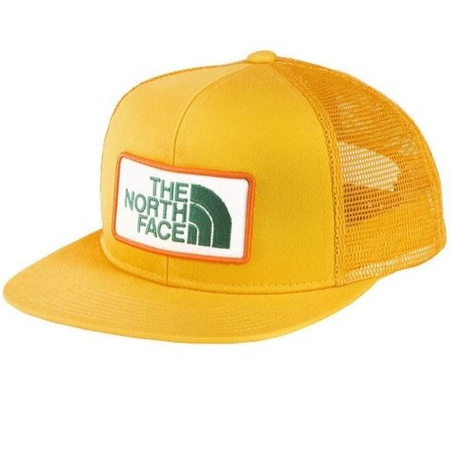 【 THE NORTH FACE / ノースフェイス 】Kids Trucker Mesh Cap /イエロー