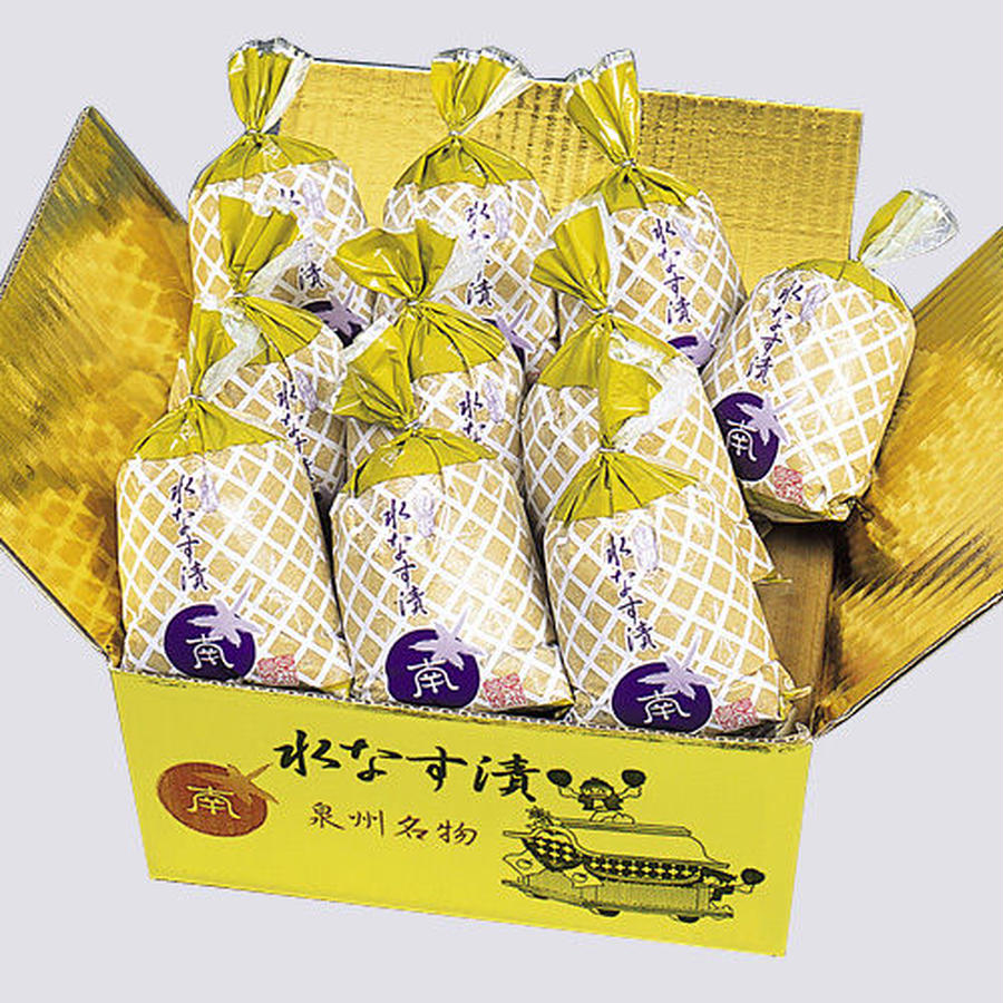 【32】特撰 水なすの浅漬(ぬか漬) 金箱 10個包装入