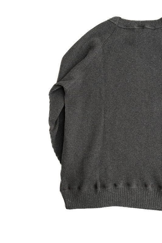 ART SCAPE  WEB SHOP            *A VONTADE(アボンタージ)  26/2 BD Waffle Crew Top  CHARCOAL