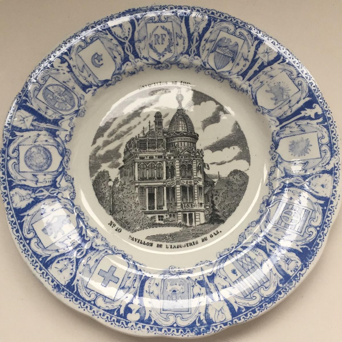 campagne à paris vintage            1889年 クレイユ・エ・モントロー おしゃべりなお皿 パリ世界万博 1−3