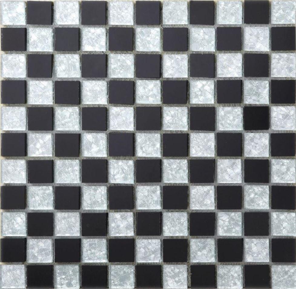 3d壁紙 30 30cm 11枚セット クリスタルガラス 黒 白 チェスボード Diy