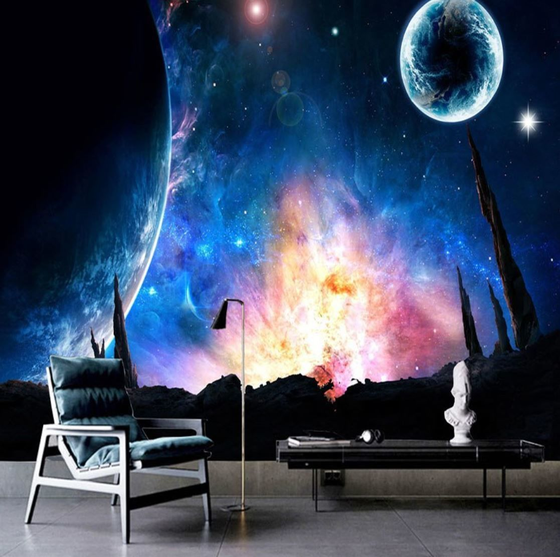 3d 壁紙 1ピース 1 絵画 宇宙 惑星 ゲームの世界 インテリア 装飾