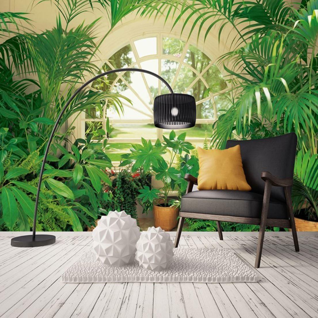 Bmw 6: 3D 壁紙 1ピース 1㎡ 自然風景 窓からの景色 庭 観葉植物 インテリア 装飾 寝室 リビ