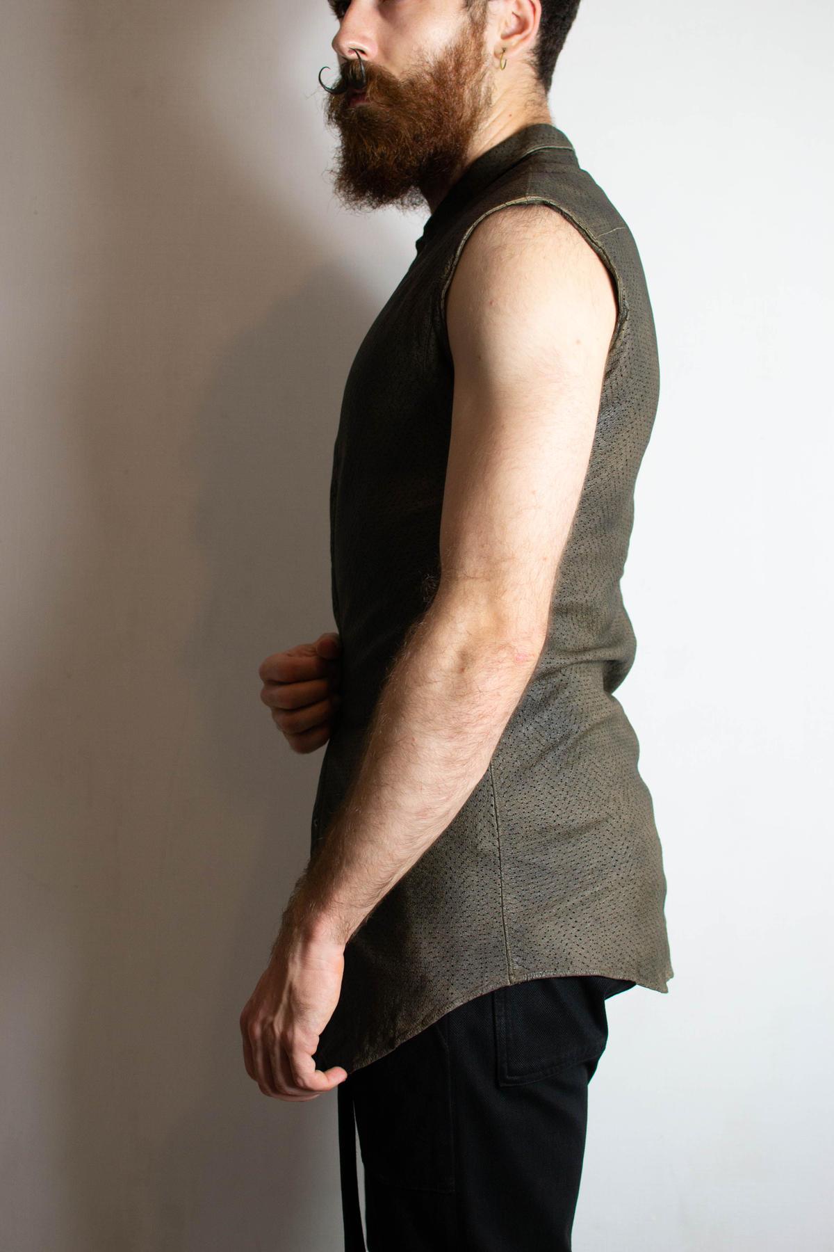 Julius SS05 Pig Leather Sleeveless Shirt - 107S
