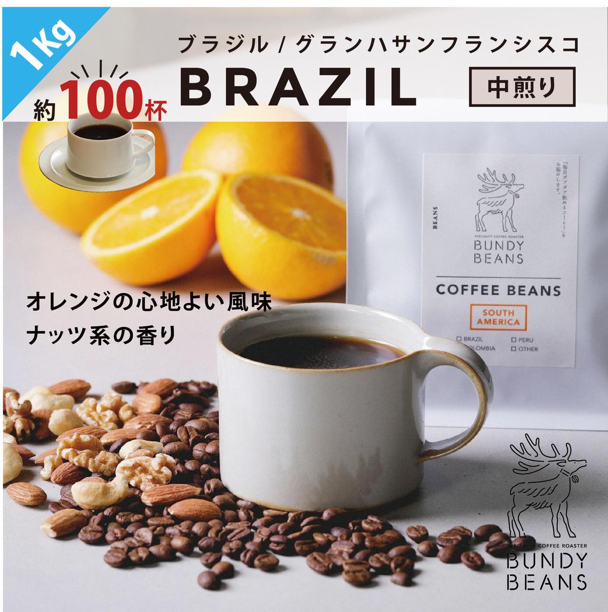 1Kg【ブラジル/BRAZIL】中煎り | BUNDYBEANS【公式オンラインショップ】
