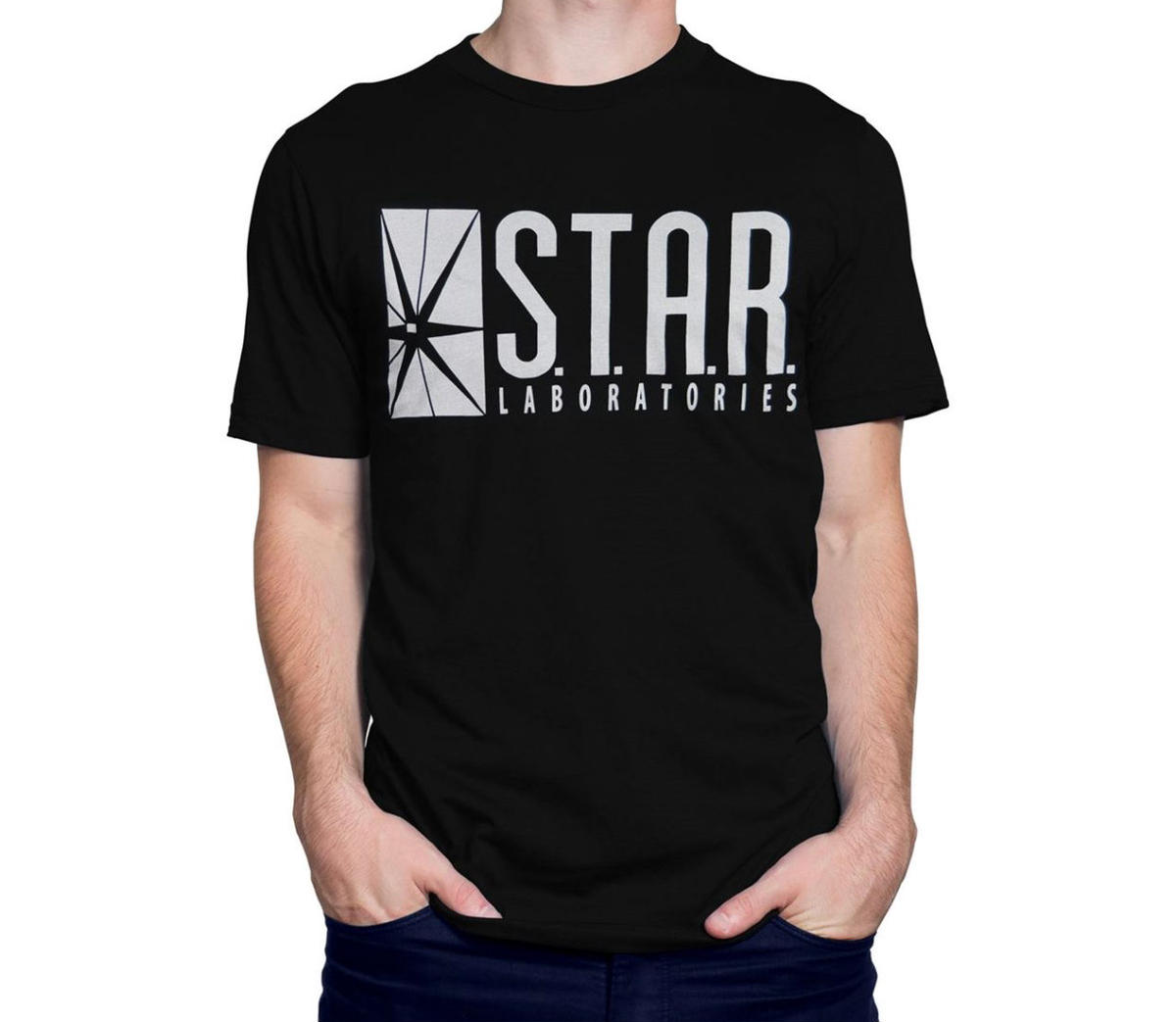 Labs SIZE S STAR LABORATORIES T SHIRT THE FLASH S.T.A.R XXL