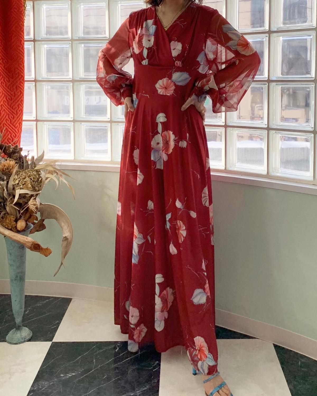 ヴィンテージ 1970年代 ドレス Poison Vintage プワゾン ヴィンテー