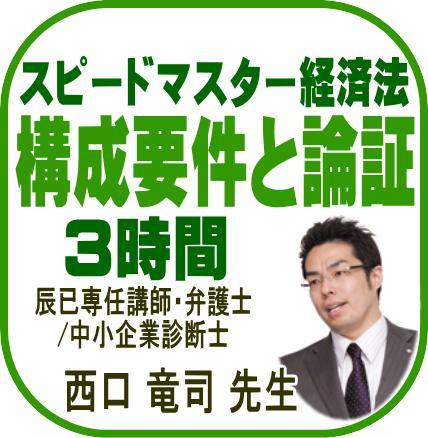 スピードマスター経済法 構成要件と論証 3時間【DVD】A0188R | 辰已 ...