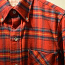 boncoura 赤チェックネルBDシャツ