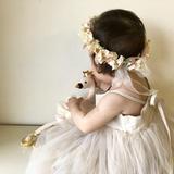 ベビーとキッズの花冠 Swan with Crown