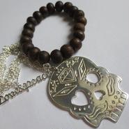 Kepala 2way Bracelet x Love&Peace Necklace - silver