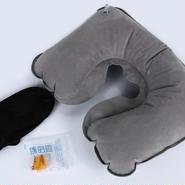 トラベル空気枕・アイマスク&耳栓付き