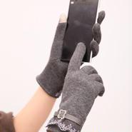 スマホ操作可能 レースデザイン手袋