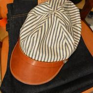BONCOURA ボンクラ帽(初期モノDEADSTOCK生地ヒッコリーストライプ)